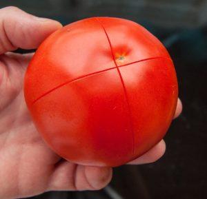 scored tomato