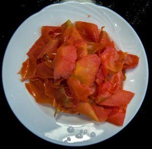Tomatoe skins