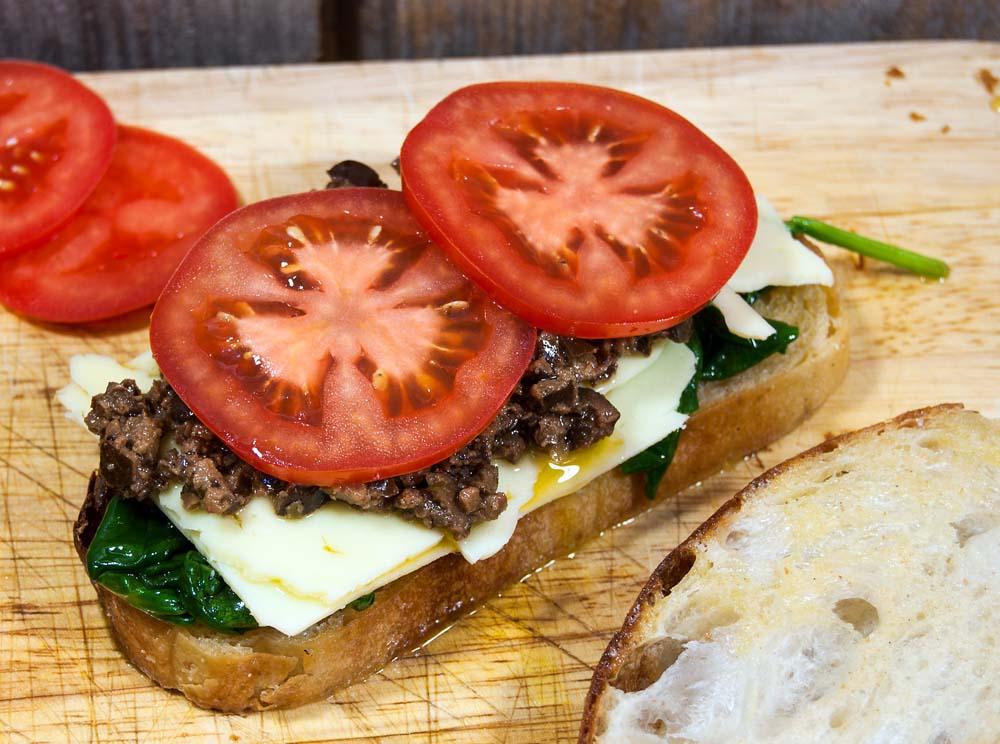 Building Tapenade sandwich