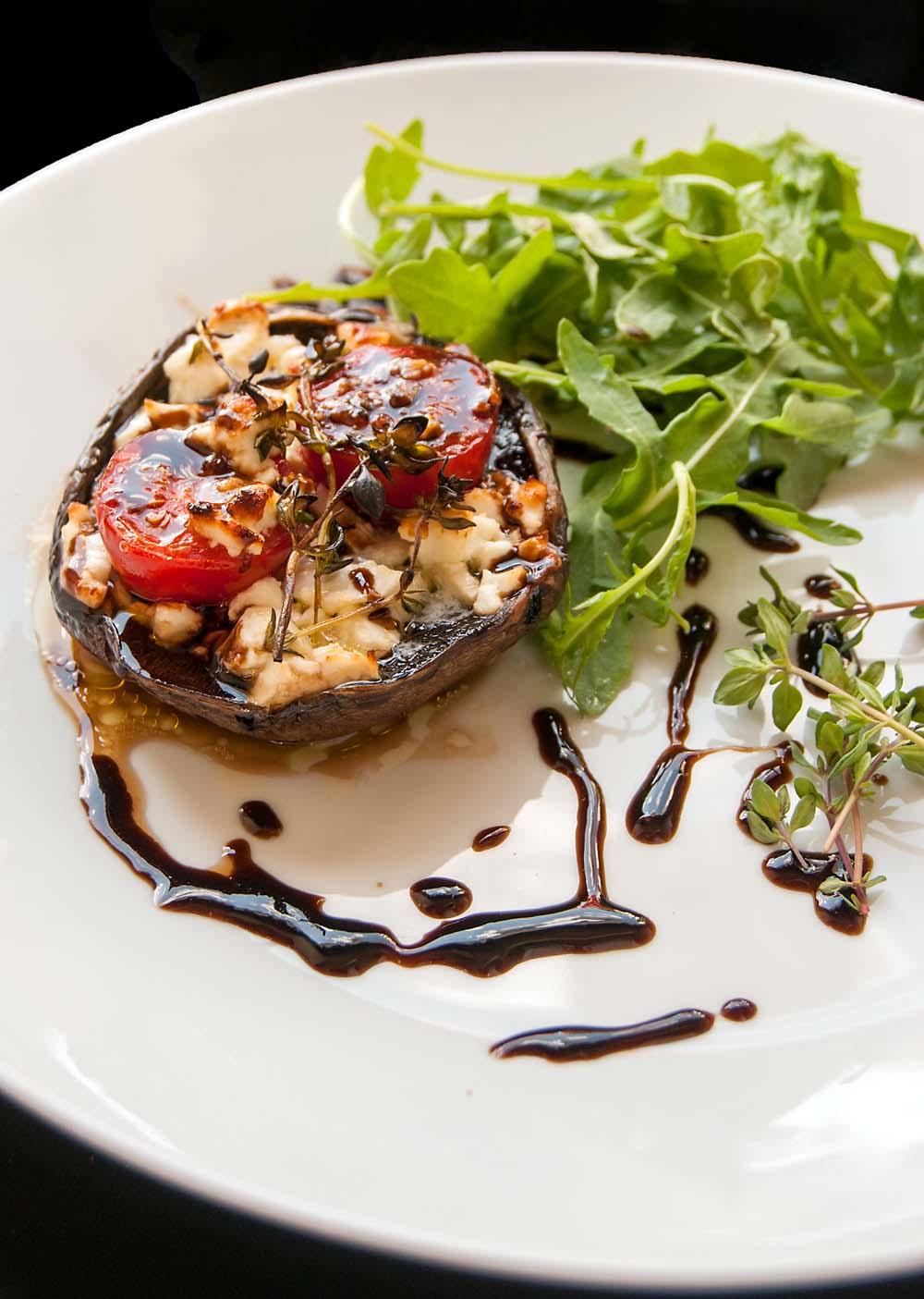 Feta and tomato stuffed Portobello