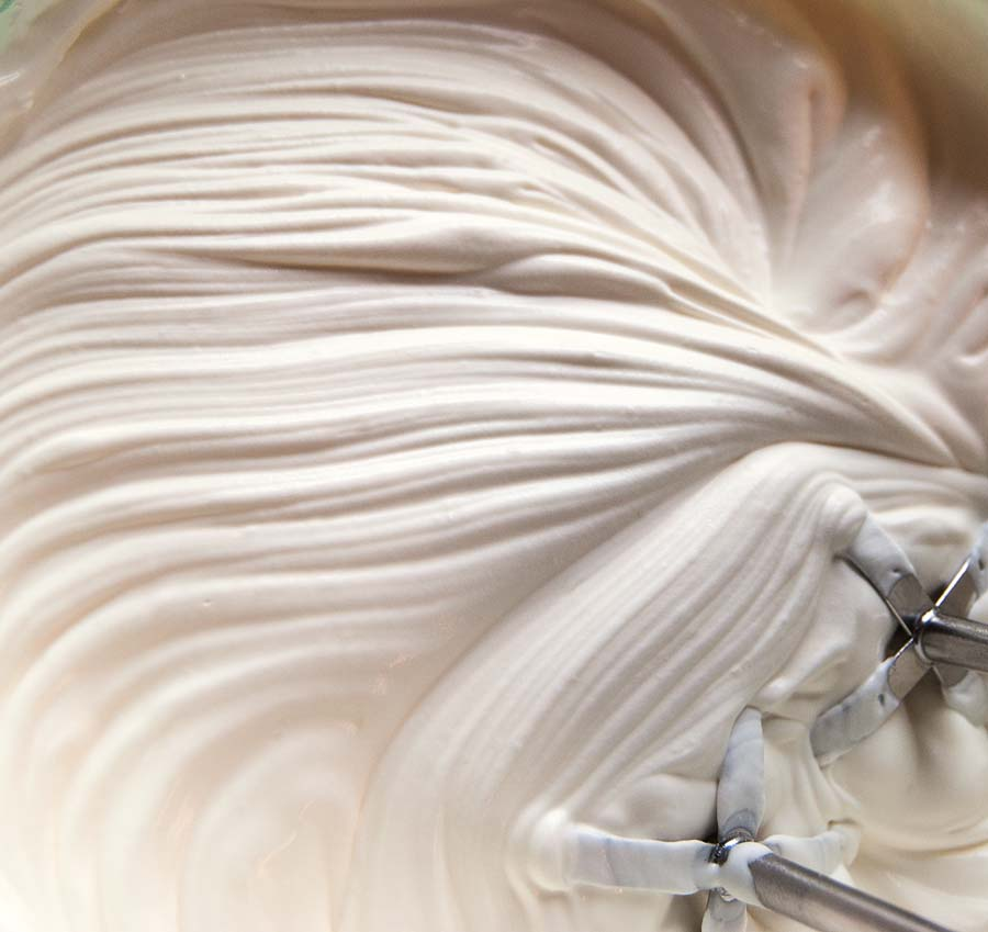 whisking cream