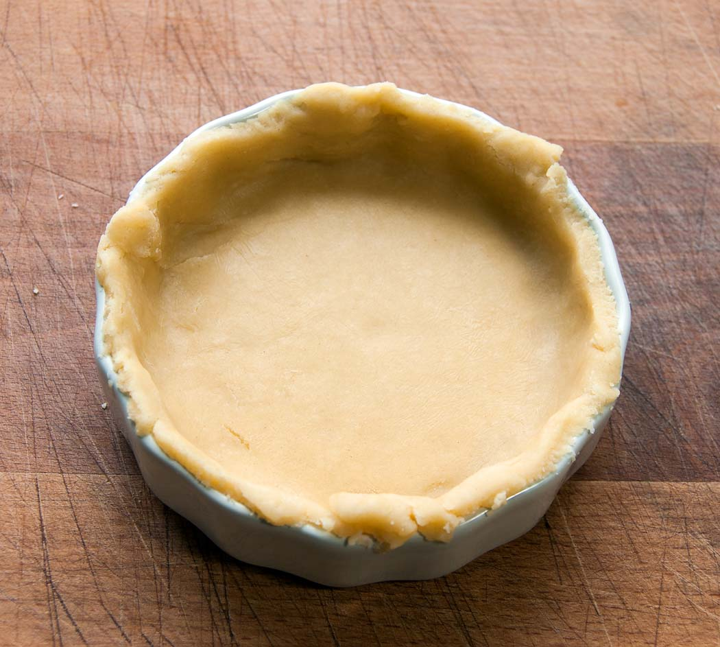 crust in pie dish