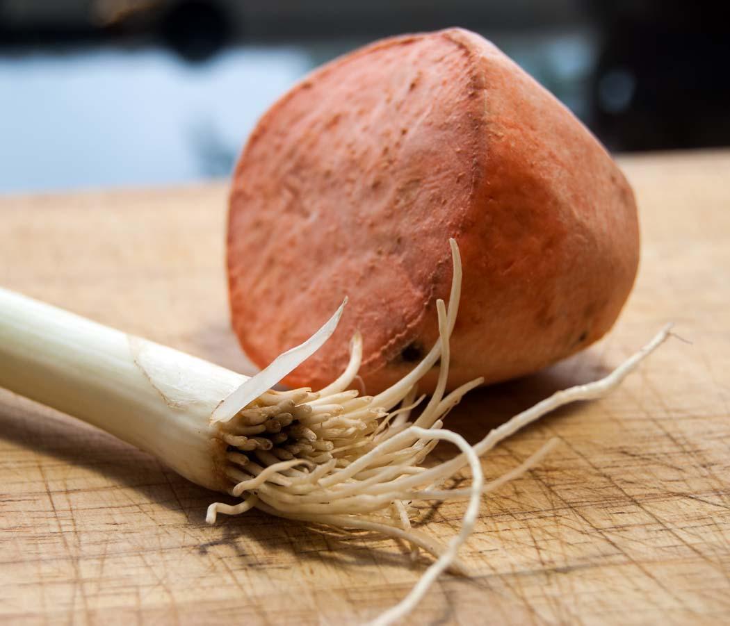 sweet potato and scallion