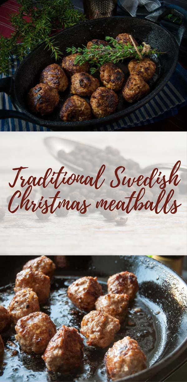Traditional Swedish Christmas meatballs