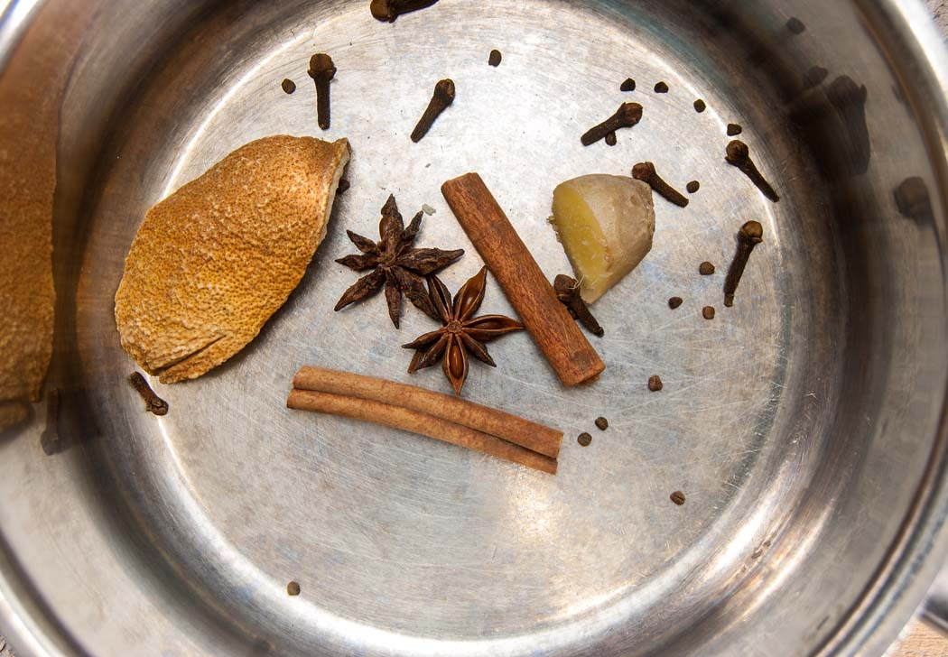 Spices in pot