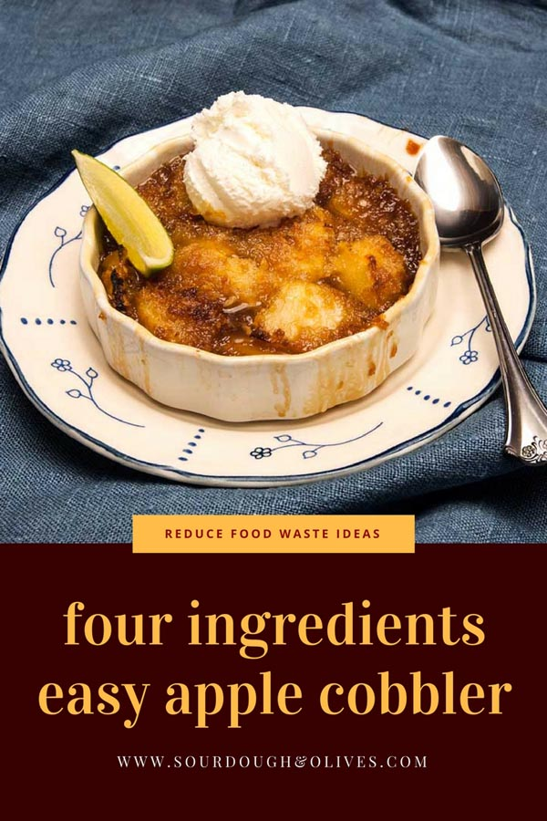 four ingredients easy apple cobbler