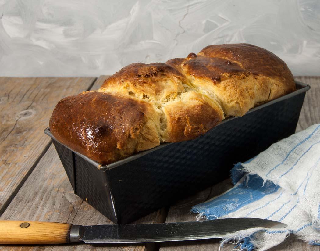 Sourdough brioche bread
